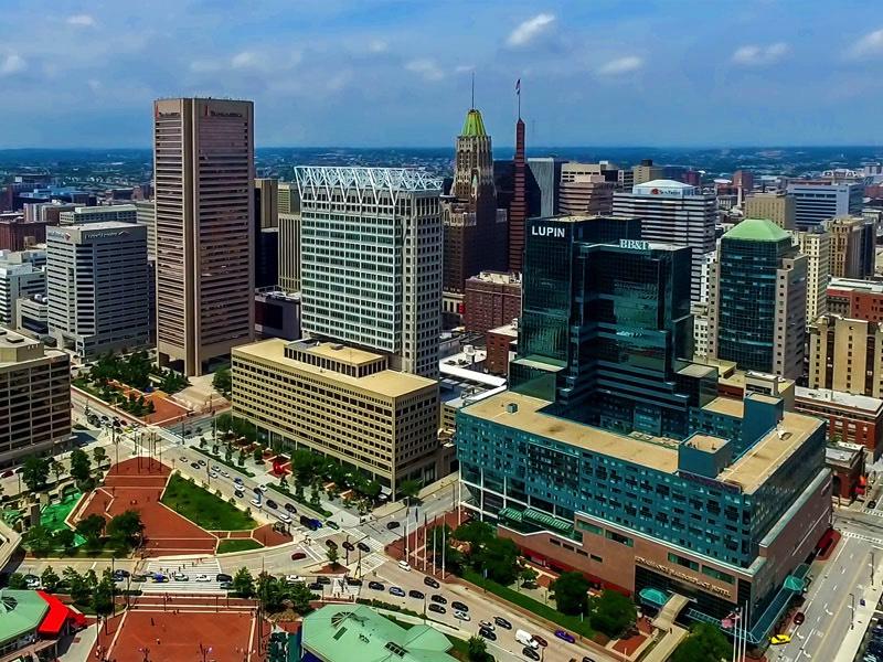 Baltimore Skyline Aerial Photo